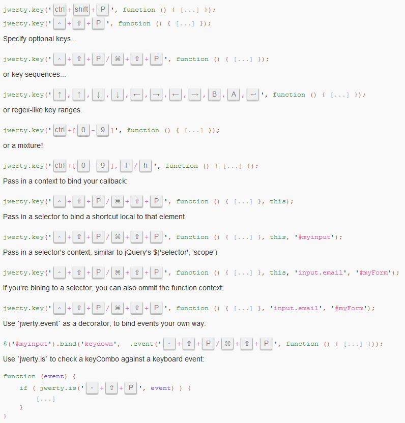 Awesome handling of keyboard events with JavaScript: jwerty - Master