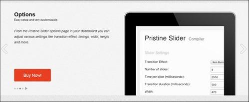Pristine Slider: pure CSS3 interactive slider