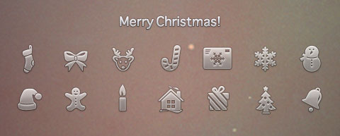Christmas Icons In PSD