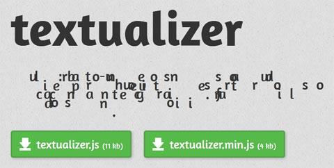 jQuery Textualizer