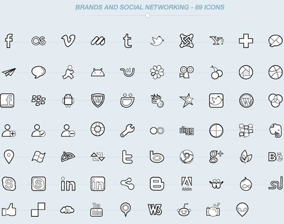 DealPixel: 500 Beautiful Outline Vector Icons