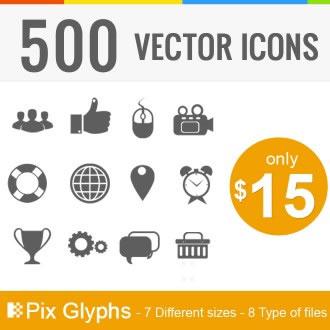 DealPixel: 500 Clean Icons