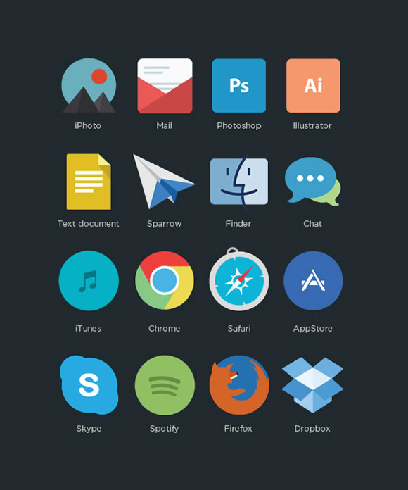 Free program icons by Applove