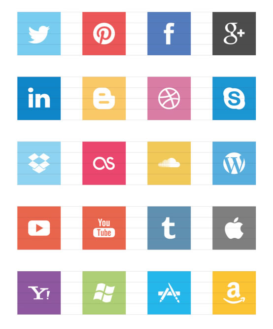 FREE Flat Social Icons EPS by Jorge Calvo García