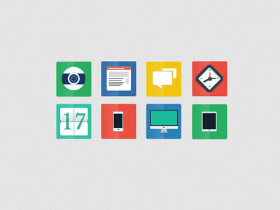 Freebie PSD – Flat Icons by Alberto
