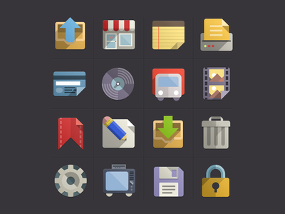 Flat Design Icons Set Vol3 by Pixeden
