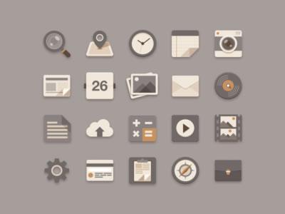 Flat Icons Brownie Theme by Sunbzy