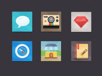 Flat Icons Freebie by Seevi