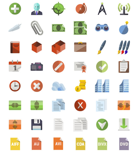 Flat Icons: More Than 3600 Icons by iconShock