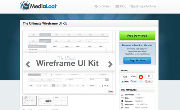 The Ultimate Wireframe UI Kit