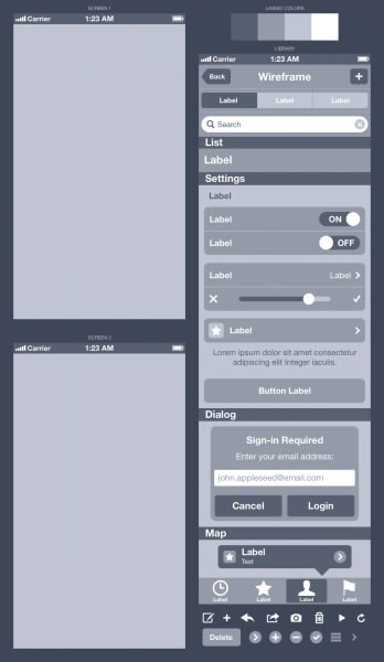 How To Wireframe An iPhone App In Sketch