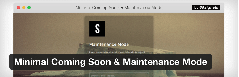 WordPress Minimal Coming Soon and Maintenance Mode