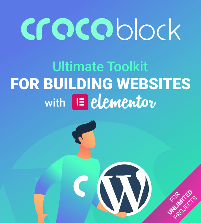 Crocoblock - All-in-one Toolkit For Building Websites with Elementor