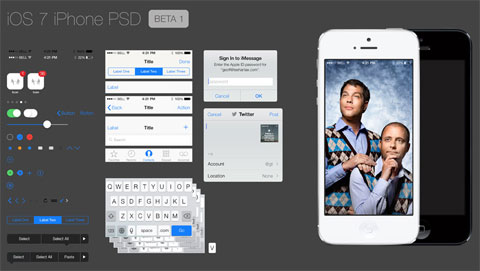 iOS7 GUI PSD